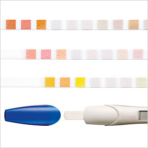 Teststreifen und Bluttestgerät