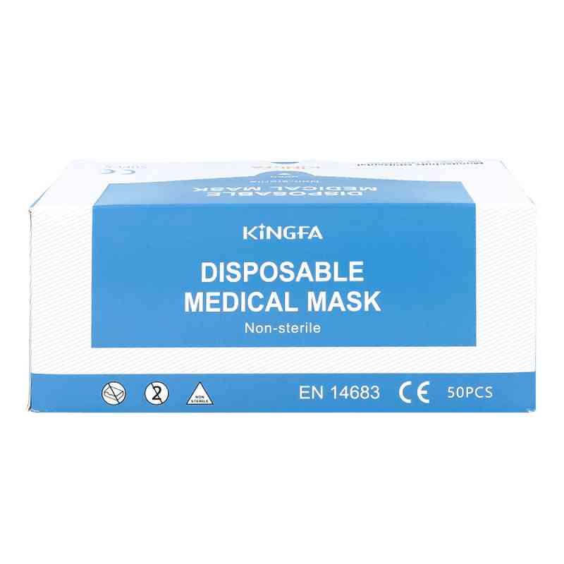 Mundschutz Op blau mit Gummiband  und Nasenbügel bei apo.com bestellen