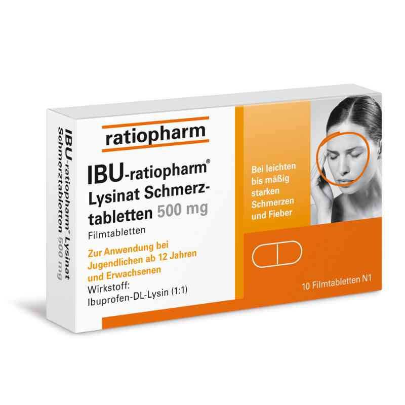 IBU-ratiopharm Lysinat Schmerztabletten 500mg  bei apo.com bestellen