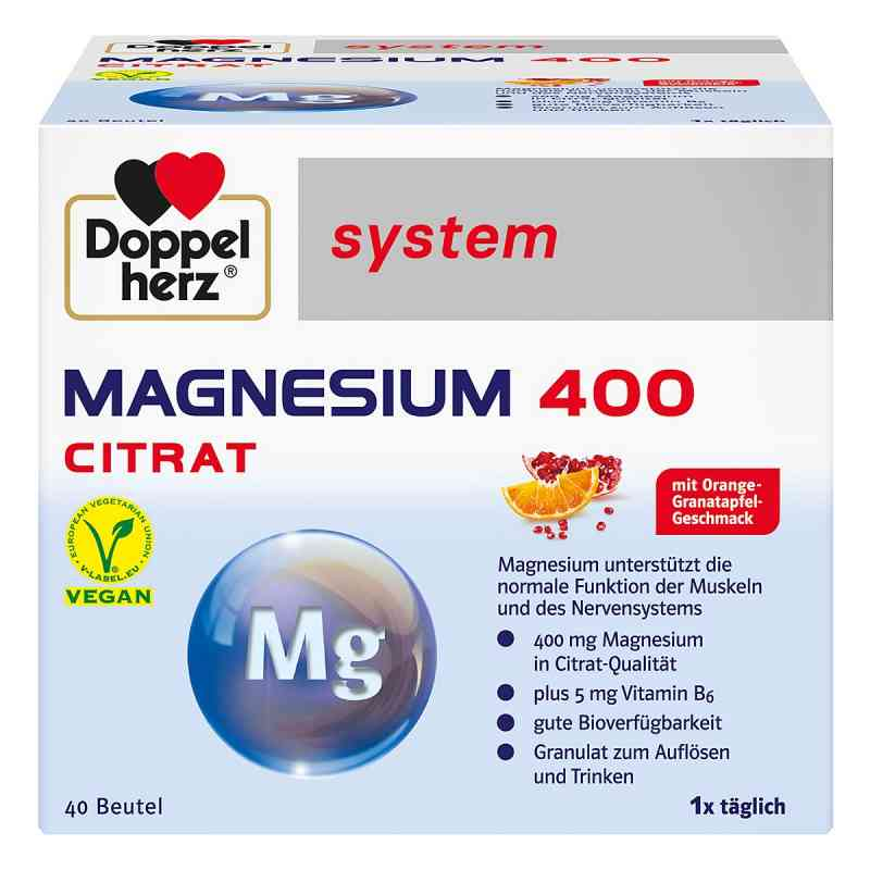 Doppelherz Magnesium 400 Citrat system Granulat  bei apotheke-online.de bestellen