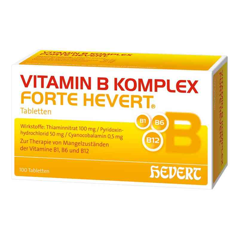 vitamin b komplex forte hevert tabletten 100 stk. Black Bedroom Furniture Sets. Home Design Ideas