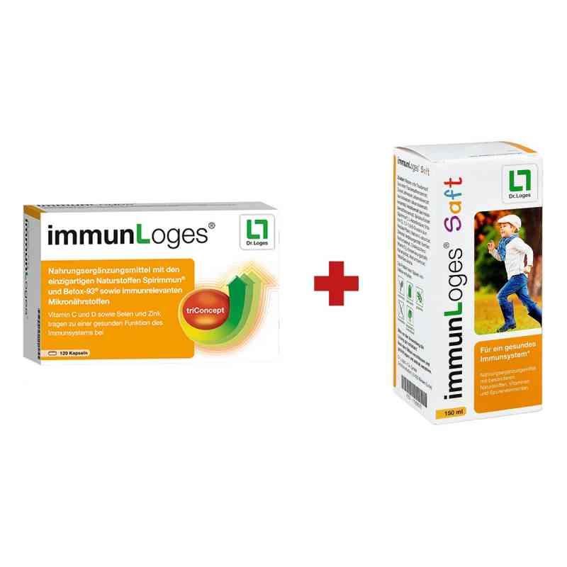 immunLoges Kapseln 120stk + GRATIS immunLoges Saft 150ml  bei apo.com bestellen
