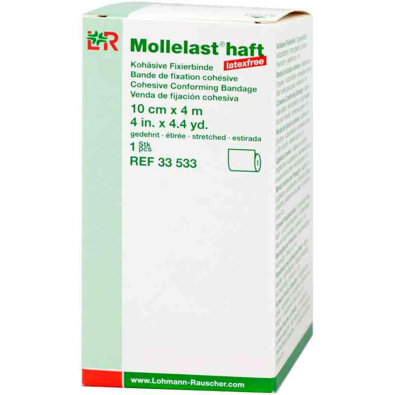 Mollelast haft Binden latexfrei 10 cmx4 m weiss  bei apo.com bestellen