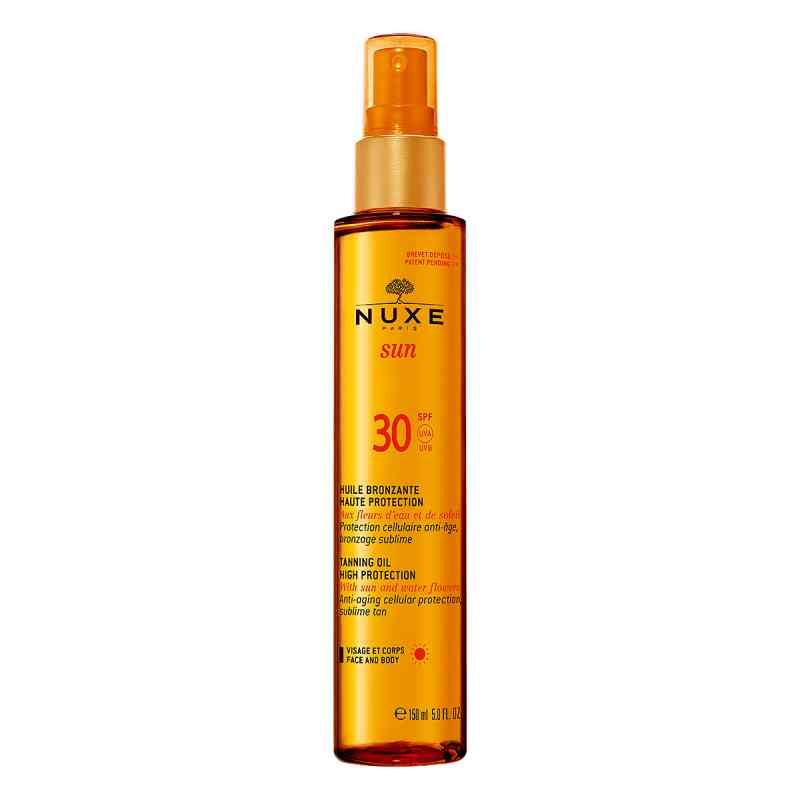nuxe sun huile bronzante visage corps lsf 30 150 ml. Black Bedroom Furniture Sets. Home Design Ideas