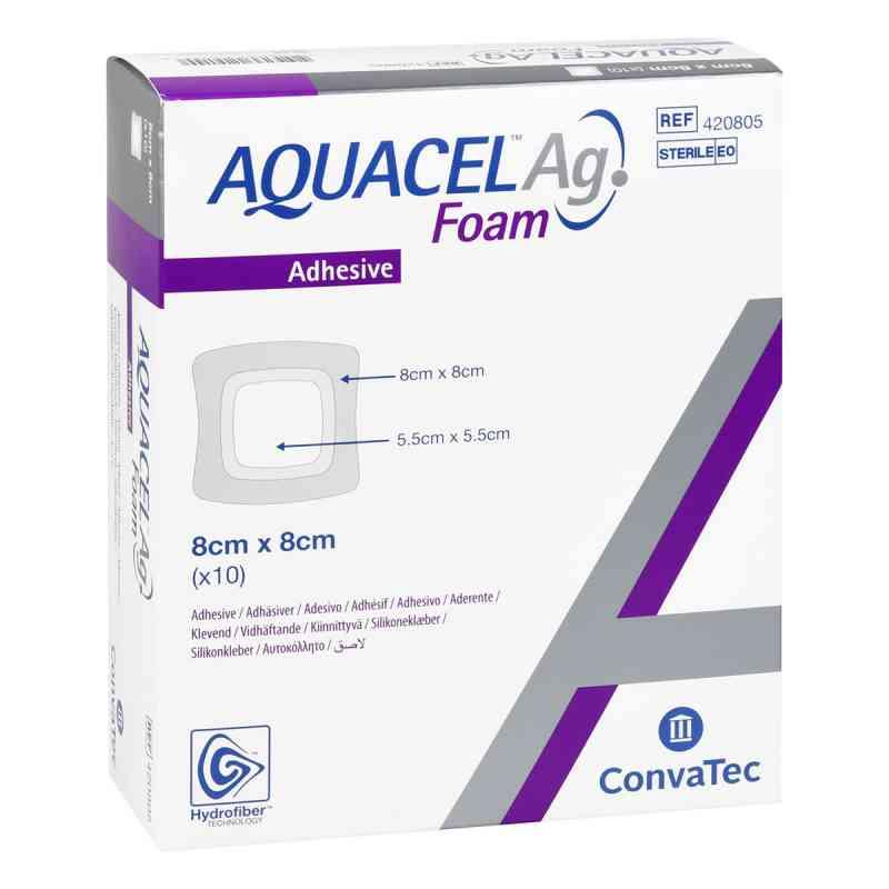 Aquacel Ag Foam adhäsiv 8x8 cm Verband  bei apo.com bestellen