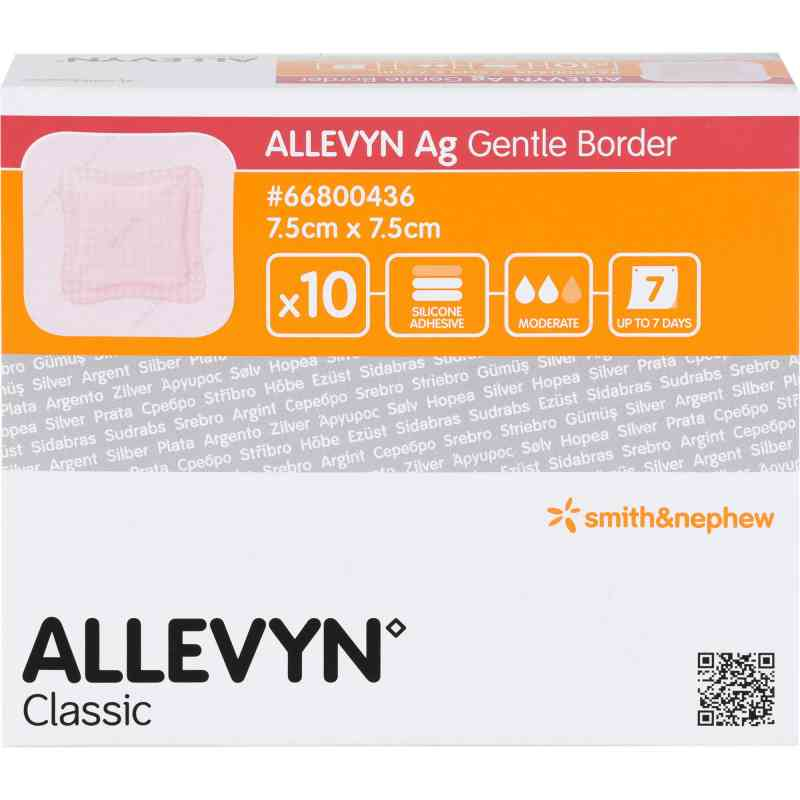 Allevyn Ag Gentle Border 7,5x7,5 cm Wundverband  bei apo.com bestellen