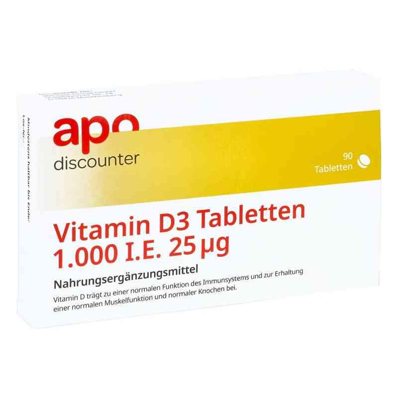 Vitamin D3 Tabletten 1000 I.e. 25 [my]g von apo-discounter  bei apo.com bestellen