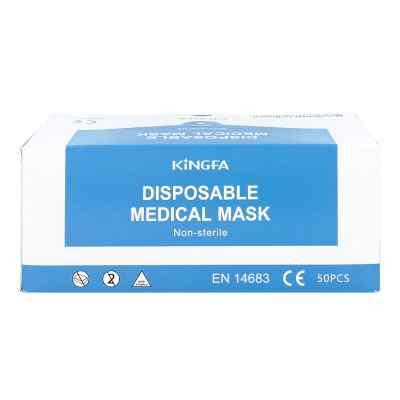 Mundschutz Op blau mit Gummiband  und Nasenbügel  bei apotheke-online.de bestellen