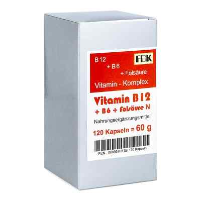 Vitamin B12 + B6 + Folsäure Komplex N Kapseln  bei apo.com bestellen
