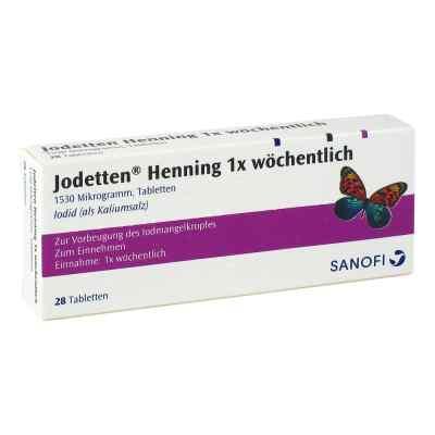 Jodetten Henning 1x wöchentlich 1530 Mikrogramm  bei vitaapotheke.eu bestellen