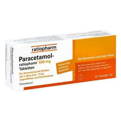 Paracetamol-ratiopharm 500mg  bei apotheke-online.de bestellen