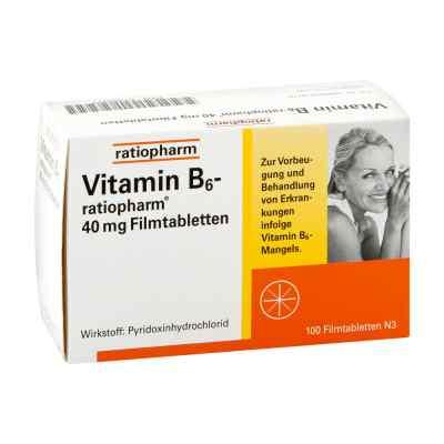 Vitamin B6 ratiopharm 40 mg Filmtabletten  bei apo.com bestellen