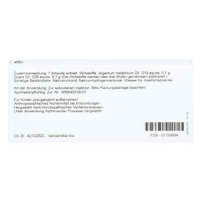 Argentum/quarz Ampullen  bei apo.com bestellen