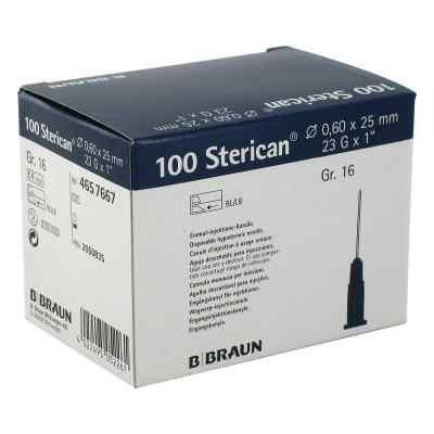 Sterican Kanüle luer-lok 0,60x25mm Größe 1 6 blau  bei apo.com bestellen