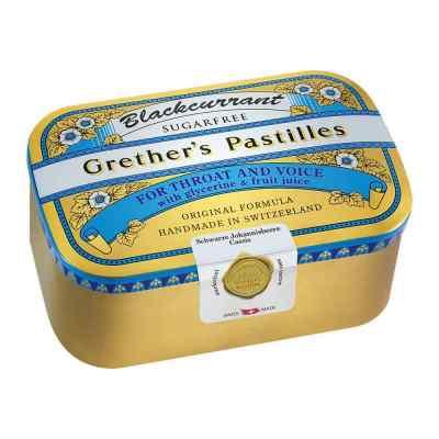 Grethers Blackcurrant Silber Pastillen zuckerfrei Dose  bei apo.com bestellen