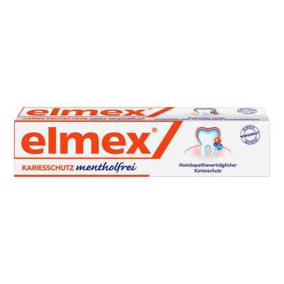 elmex mentholfrei zahnpasta mit faltschachtel 75 ml. Black Bedroom Furniture Sets. Home Design Ideas