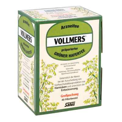 Vollmers präparierter grüner Hafertee Filterbeutel  bei vitaapotheke.eu bestellen