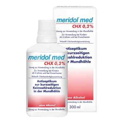 Meridol med CHX 0,2% Lösung zur Anwendung in der Mundhöhle  bei apotheke-online.de bestellen