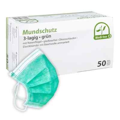 Medi Inn Mundschutz Maske mit Bändern grün  bei apo.com bestellen