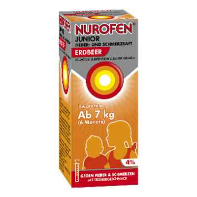 Nurofen Junior Fieber- und Schmerzsaft Erdbeer 40mg/ml  bei vitaapotheke.eu bestellen