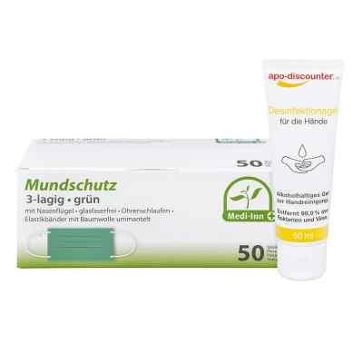 Mundschutz Maske und Hände-Desinfektionsgel  bei apo.com bestellen
