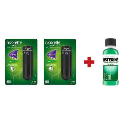 2 x Nicorette Spray +Listerine Zahn-& Zahnfleisch Schutz Lösung  bei apo.com bestellen