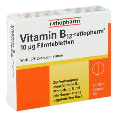 Vitamin B12 ratiopharm 10 [my]g Filmtabletten  bei apo.com bestellen