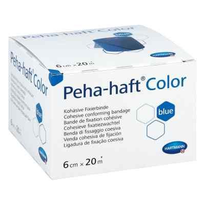 Peha Haft Color Fixierbinde latexf.6 cmx20 m blau  bei vitaapotheke.eu bestellen