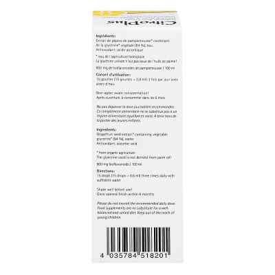 Citroplus 800 Bio Grapefruit Kern Extrakt Liquidum  bei apo.com bestellen