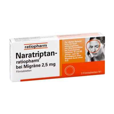 Naratriptan-ratiopharm bei Migräne 2,5mg  bei apotheke-online.de bestellen