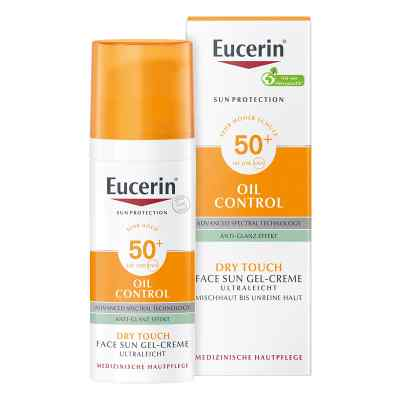 Eucerin Sun Gel-creme Oil Contr.anti-gl.eff.lsf50+  bei vitaapotheke.eu bestellen