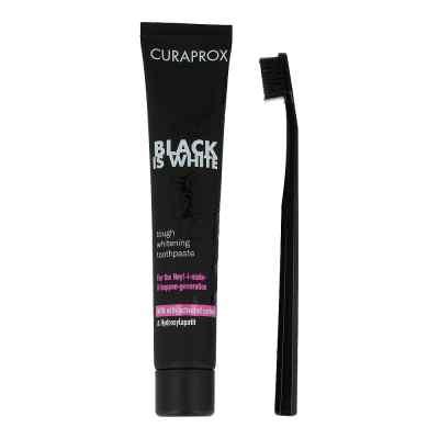 Curaprox Black is White Kohlezahnpasta und Bürste  bei apotheke-online.de bestellen
