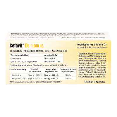 Cefavit D3 1.000 I.e. Filmtabletten  bei apo.com bestellen