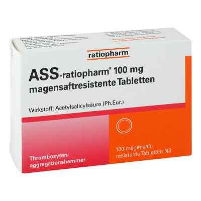 Ass ratiopharm 100 mg magensaftresistent   Tabletten  bei vitaapotheke.eu bestellen