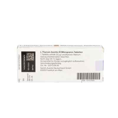 L-thyroxin Aventis 25 [my]g Tabletten  bei apo.com bestellen