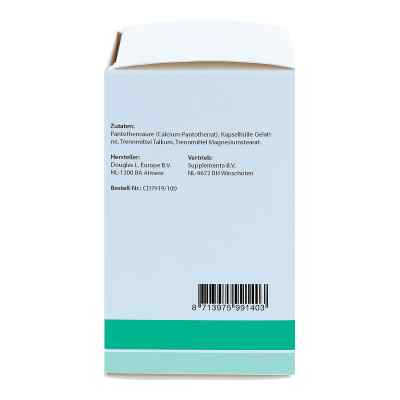 Pantothenic Acid B5 500 mg Pantothensäure Kapseln  bei apo.com bestellen