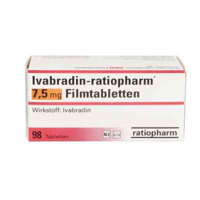 Ivabradin ratiopharm 7,5 mg Filmtabletten  bei apo.com bestellen