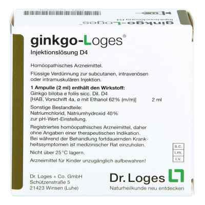Ginkgo-loges Injektionslösung D4 Ampullen  bei apo.com bestellen