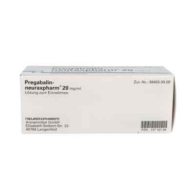 Pregabalin neuraxpharm 20 mg/ml Lösung zur, zum einnehmen  bei apo.com bestellen