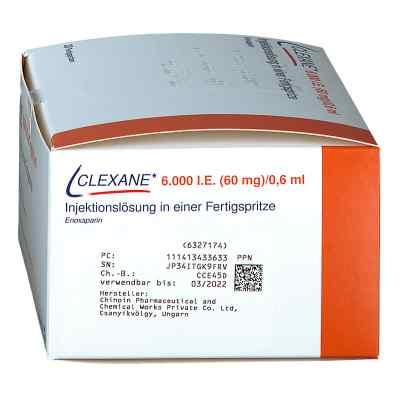 Clexane 6.000 I.e.60mg/0,6ml Ilo i.e.Fertigspr.  bei apo.com bestellen