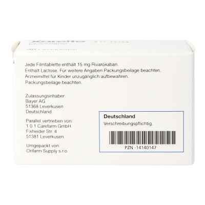 Xarelto 15 mg Filmtabletten  bei apo.com bestellen