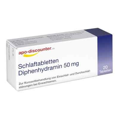 Schlaftabletten Diphenhydramin apo-discounter 50 mg Tabletten  bei apo.com bestellen