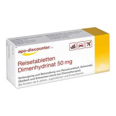 Reisetabletten Dimenhydrinat 50 mg Tabletten von apo-discounter  bei apo.com bestellen