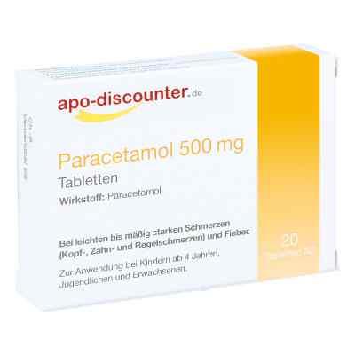 Paracetamol 500 mg Schmerztabletten von apo-discounter  bei apo.com bestellen